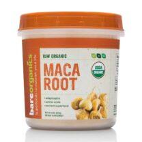 BareOrganics MACA ROOT POWDER Raw Organic 8oz 227g Aloe Vera