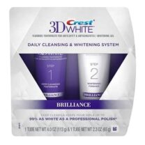 CREST 3D WHITE - BRILLIANCE DAILY CLEANSING TOOTHPASTE & WHITENING GEL SYSTEM (6.3oz) 178g