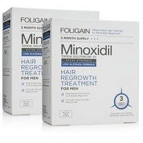 FOLIGAIN MINOXIDIL 5% HAIR REGROWTH TREATMENT For Men (Low Alcohol) 6 Month Supply