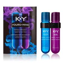 K Y YOURS MINE COUPLES LUBRICANT Two 1.5oz 44ml Bottles LUBRICANT