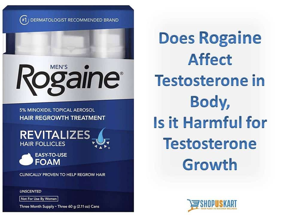 Does Rogaine affect testosterone