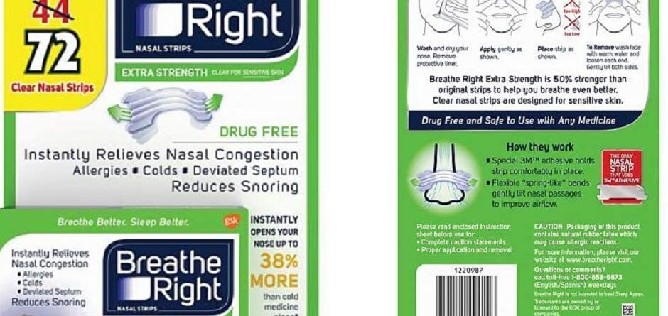 Breathe Right Extra Strength Nasal Strips 72 TAN for Sensitive Skin